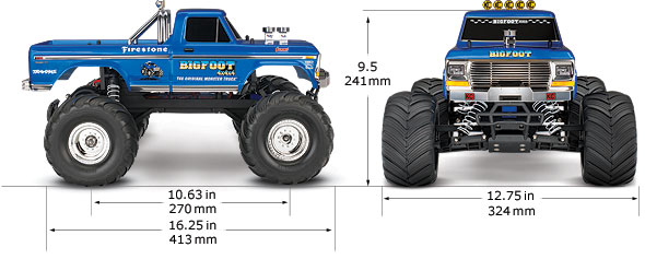 Bigfoot® No. 1: 1/10 Scale Officially Licensed Replica Monster Truck ...