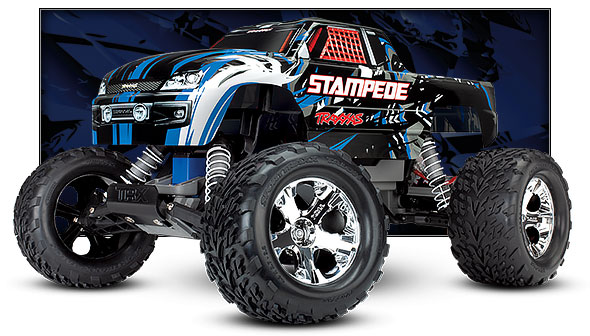 blue stampede three quarter view