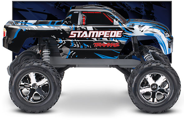 Blue Stampede side view