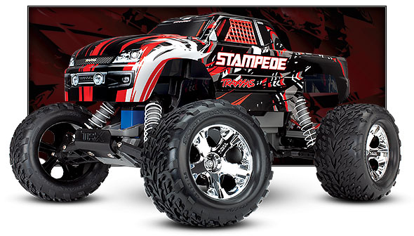 red stampede three quarter view