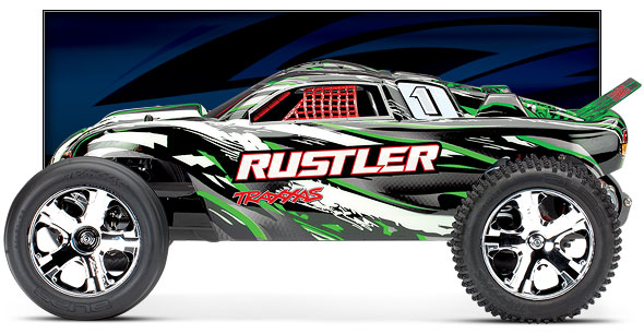Rustler (#37054-4) Side View (Green)