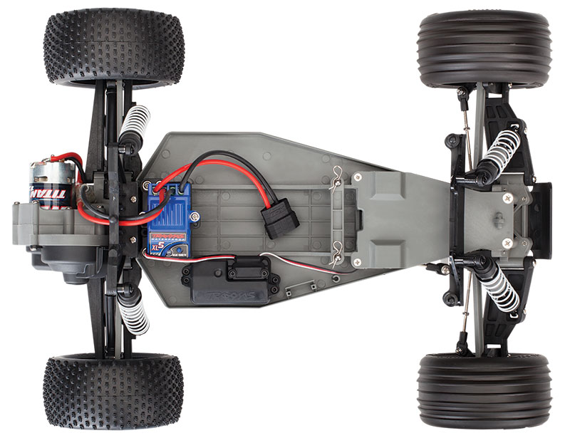 Rustler Chassis Top View