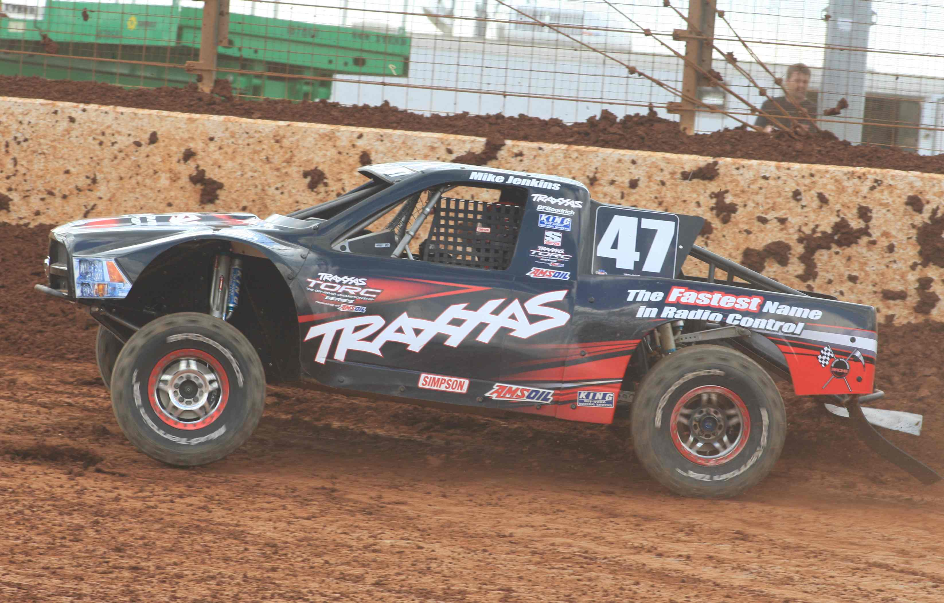 Traxxas owner and flagship PRO 4X4 driver Mike Jenkins looks to jump even further up