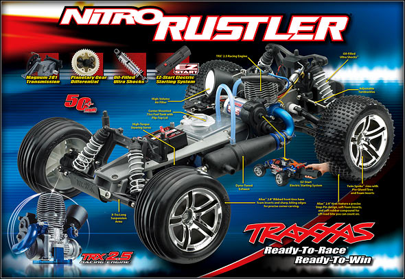Hammer The Throttle Anywhere In Power Band And Nitro Rustler Responds With Searing Acceleration Sound Of Pure High Revving