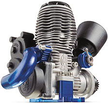 TRX 2.5 Racing Engine (shown with blue-anodized engine mount)