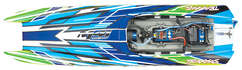 Traxxas DCB M41 Widebody (#57046-4) Overhead Open View (Orange)