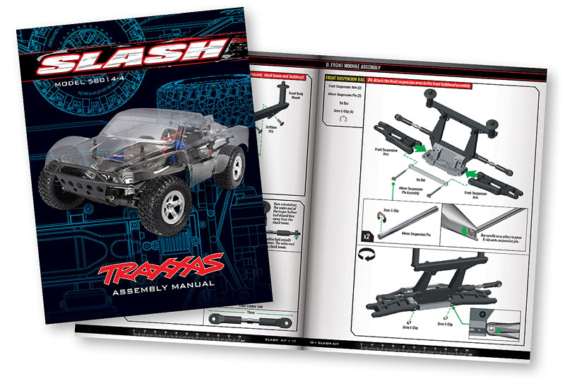 Assembly Manual Preview - Slash 2WD Unassembled Kit (#58014-4)