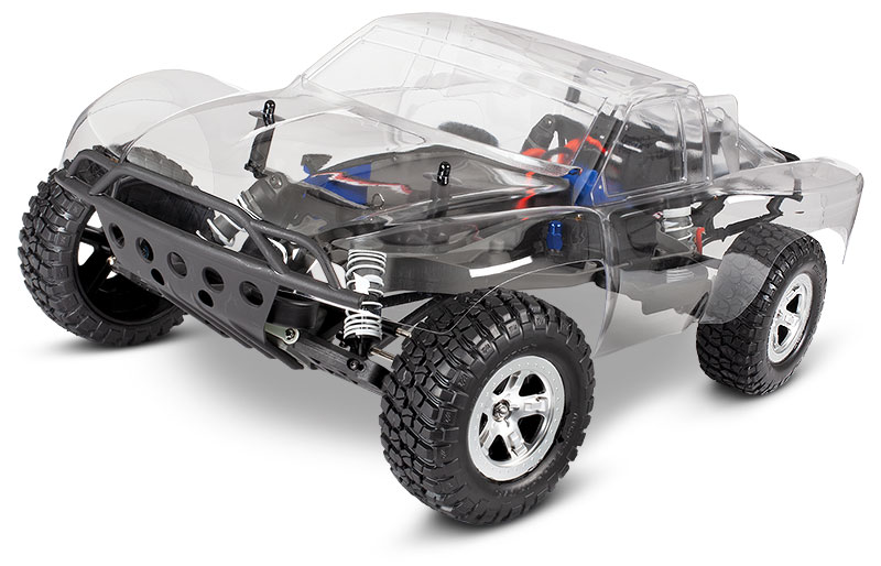 Slash 2WD Unassembled Kit (#58014-4) Clear Body Side View (shown as assembled)