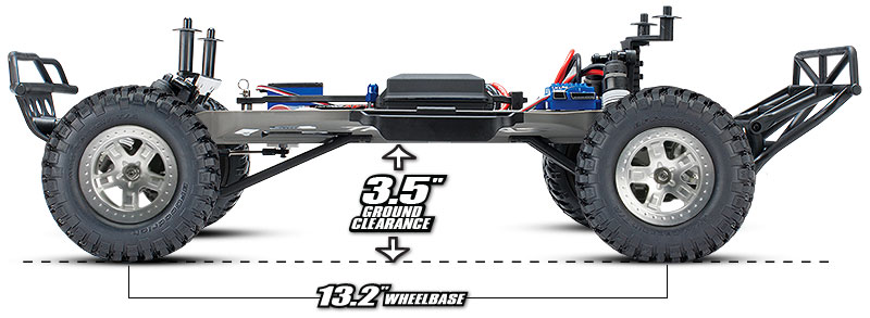 Slash 2WD Unassembled Kit (#58014-4) 3.5-inches Ground Clearance (shown as assembled)