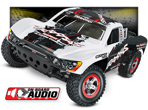 Slash OBA (#58034-2) High Three-Quarter View (White Traxxas #1)