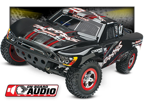 Slash OBA (#58034-2) High Three-Quarter View (Mike Jenkins Black Traxxas #47)