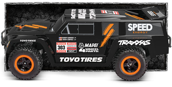 5804 Robby Gordon Dakar Side Black m Traxxas Slash, Summit, Short course truck, Rally Stocked!