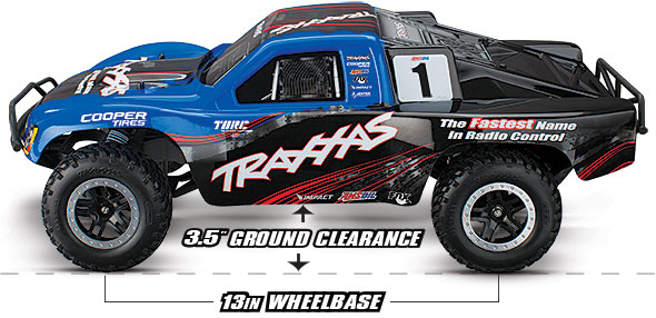 "Slash VXL (TSM) (#58076-3) 13.2"" Wheelbase and 3.5"" Ground Clearance"