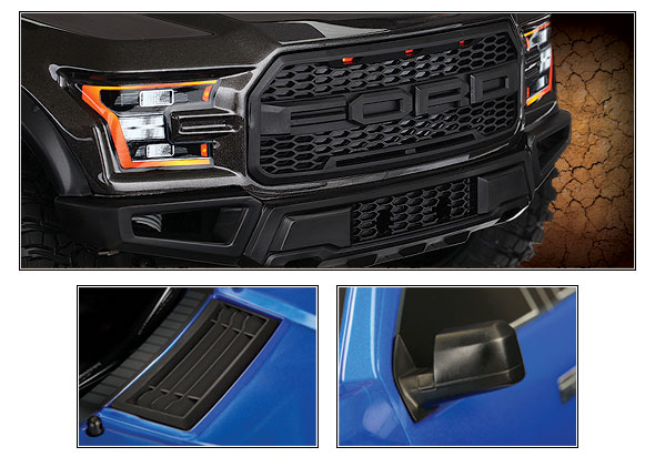 Ford F-150 Raptor (#58094-1) Front Three-Quarter View Close-up (Magnetic)