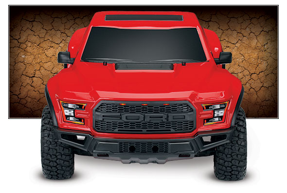 Ford F-150 Raptor (#58094-1) Front View (Red)