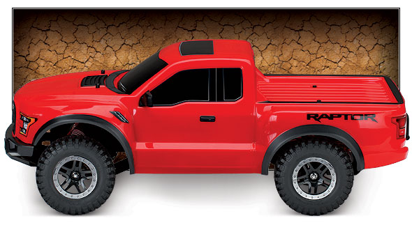 Ford F-150 Raptor (#58094-1) Side View (Red)