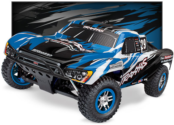 Nitro Slayer Pro 4X4 (#59076-3) Three-Quarter View (Blue)