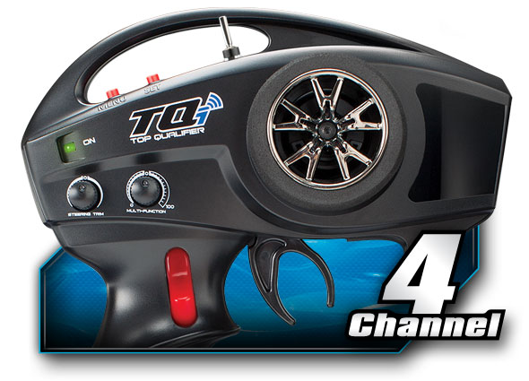 Tqi 2 4 Ghz High Output Radio System 4 Channel With Traxxas Link Wireless Module Tsm 4 Ch Transmitter 5 Ch Micro Receiver Traxxas