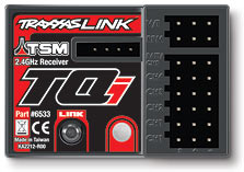 Micro Receiver, TQi 2.4GHz with Traxxas Link and TSM (5-channel) (#6533) (top view)
