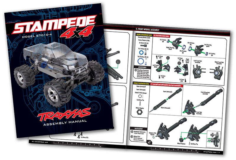 Stampede 4X4 Unassembled Kit (#67010-4) Assembly Manual