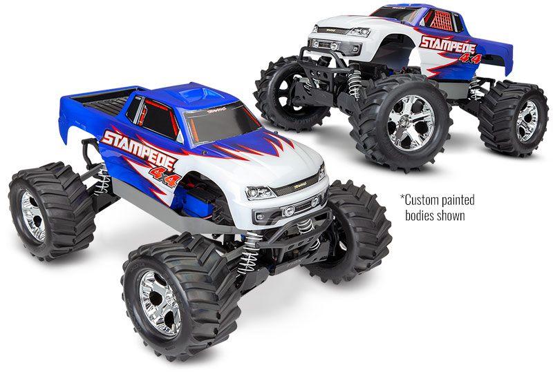 Stampede 4X4 Unassembled Kit (#67010-4) Custom-Painted Bodies Shown (shown as assembled)