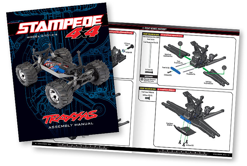 Assembly Manual Preview - Stampede 4X4 Unassembled Kit (#67014-4)