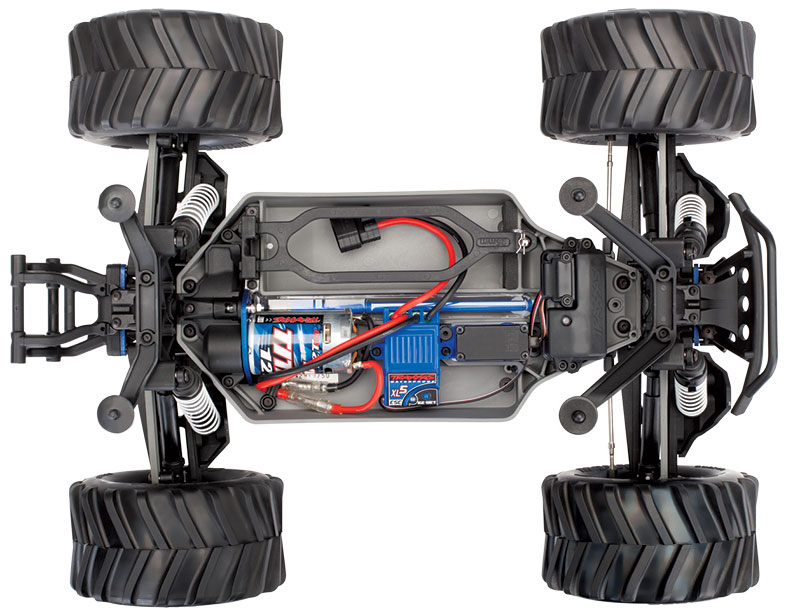 Stampede 4X4 Unassembled Kit (#67014-4) Top View (shown as assembled)