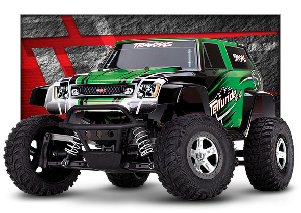 67044 Telluride 3qtr green m Traxxas New Telluride 4x4, are you ready to explore?