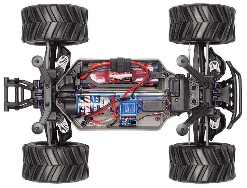 Stampede 4X4 Brushed (#67054-1) Top Chassis View