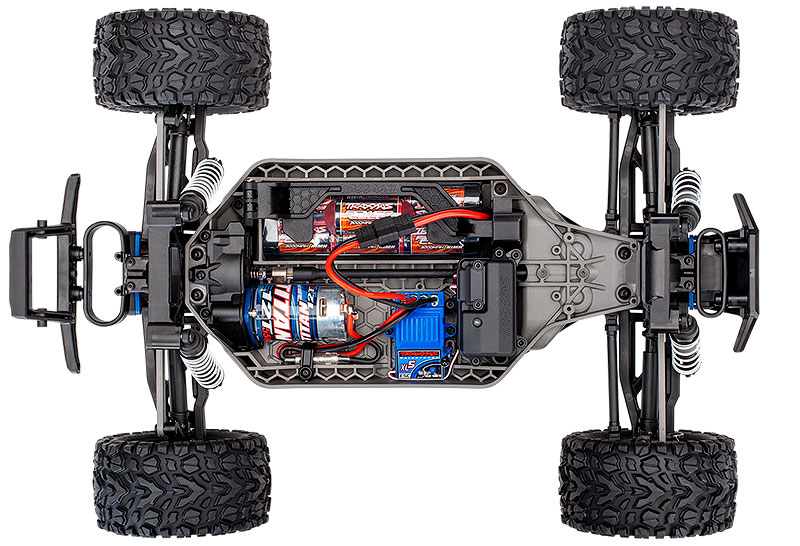 Rustler 4X4 (#67064-1) Chassis Top View