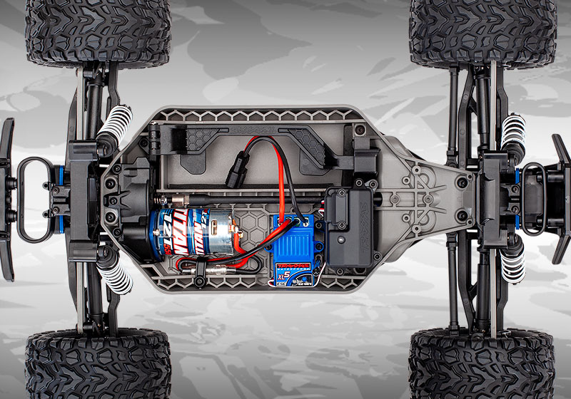 Rustler 4X4 (#67064-4) Chassis Top View