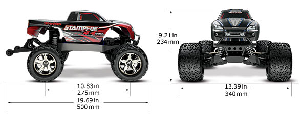 stampede u00ae 4x4 vxl  1  10 scale monster truck with tqi traxxas link u2122 enabled 2 4ghz radio system