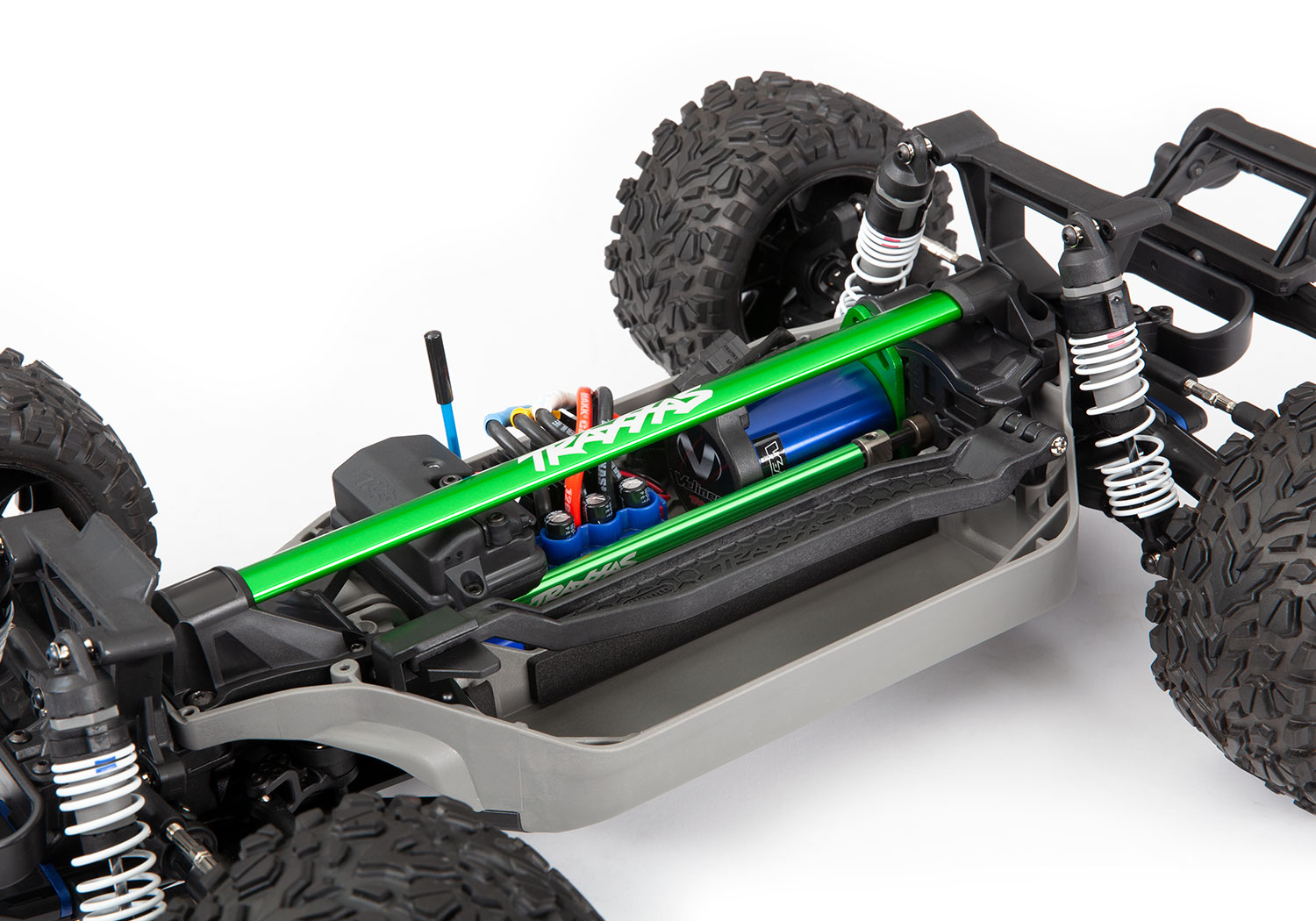 Rustler 4X4 installed chassis brace