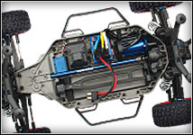 Slash 4x4 Platinum (#6804R) Chassis Top View