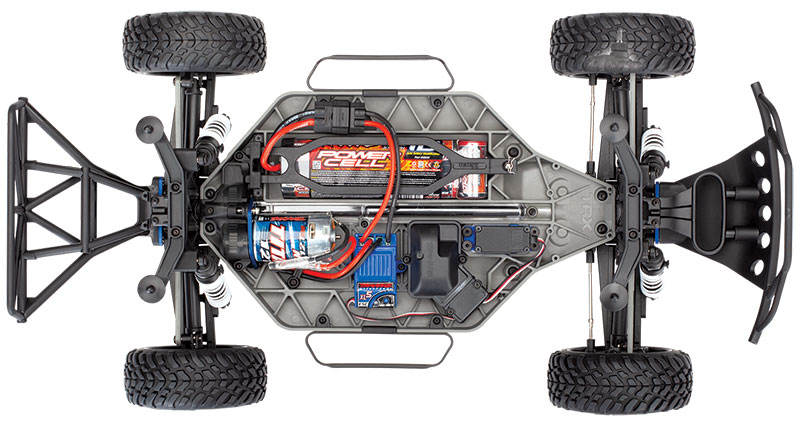 Slash 4X4 (#68054-1) Top Chassis View