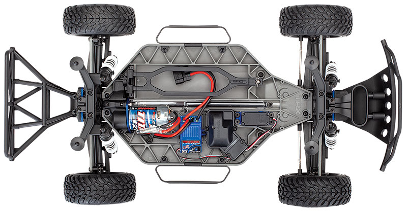 Slash 4X4 (#68054-4) Top Chassis View