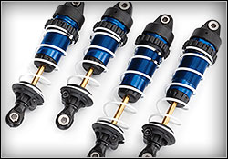 Slash 4X4 Ultimate (#68077-4) Blue-Anodized GTR Shocks