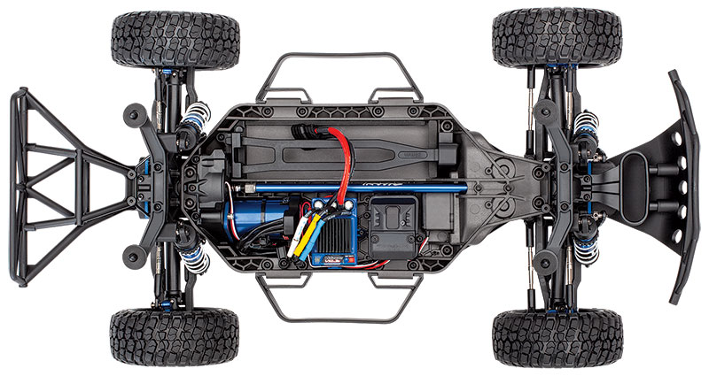 Slash 4X4 Ultimate (#68077-4) Chassis Top View