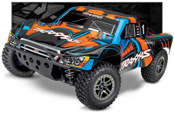 Slash 4X4 Ultimate (#68077-4) Three-Quarter View (Orange)