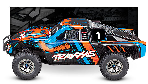 Slash 4X4 Ultimate (#68077-4) Side View (Orange)