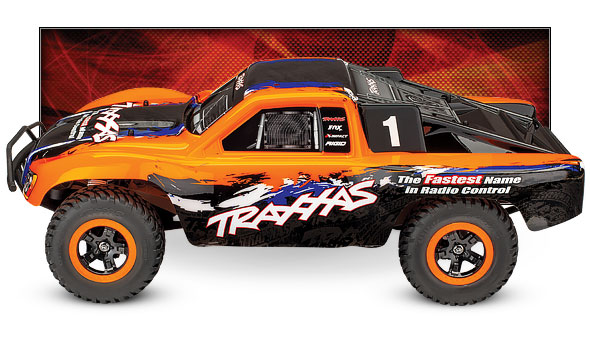 Slash 4X4 VXL (#68086-4) (Orange) - Side View