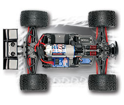 1/16th E-Revo Top Chassis