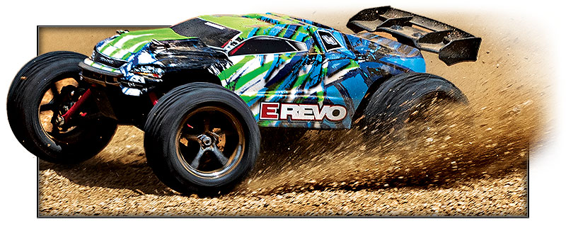 1/16th E-Revo Brushed (#71054-1) Action (Green)