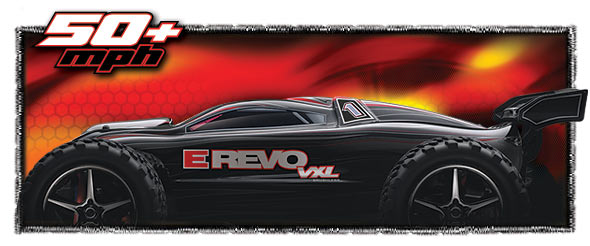 1/16th E-Revo VXL (#7107/#7108) Side View (black)