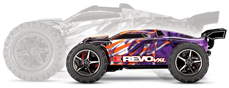 1/16th E-Revo VXL (#71076-3) Side Scale Comparison (Purple)