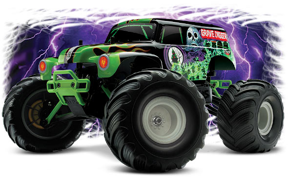 Traxxas 1:16 Monster Jam Grave Digger 2WD RTR Battery Charger Backpack RC #7202A | eBay