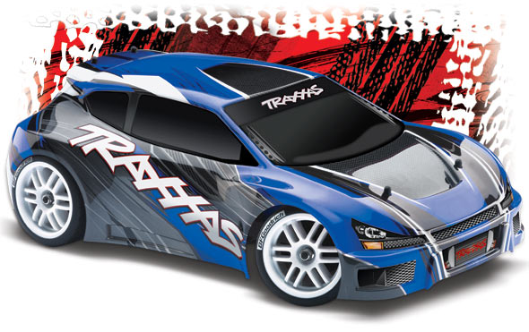 7307 rally 3qtr rt low blue 2 med Traxxas Rally VXL 1/16 Scale Brushless Rally RC Car