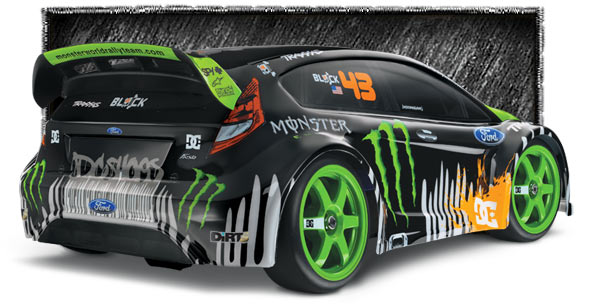 7309 3qtrRearLow med TRAXXAS 1/16 RALLY with Ken Block/Monster Energy Graphics is coming!
