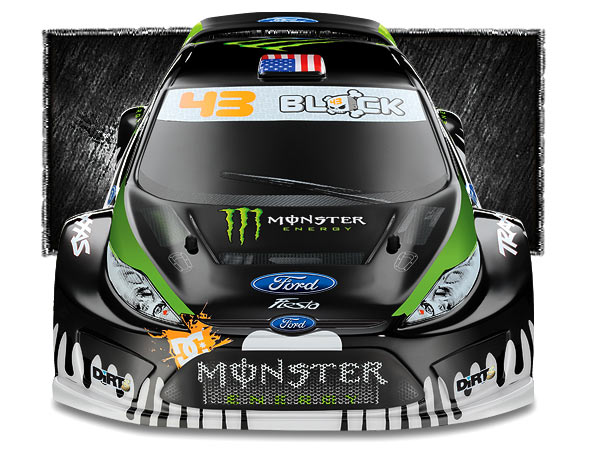 7309 Frontview med TRAXXAS 1/16 RALLY with Ken Block/Monster Energy Graphics is coming!
