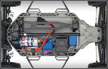 Ford Fiesta ST Rally (#74054-4) Chassis Top View
